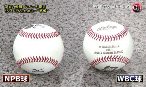 NPB球とWBC球