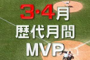 3・4月度の歴代月間MVP受賞者の成績一覧